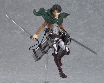 Фигурка фигма Леви Атака Титанов 213 серия ОРИГИНАЛ + доп. подставка Б.У. / Figure figma Attack on Titan Levi, размер фигурки 14.5см