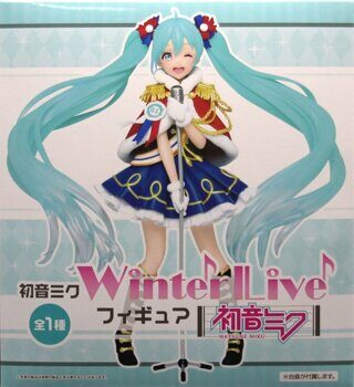 Фигурка Хатсуне Мику Вокалоид зимняя ОРИГИНАЛ / Figure Hatsune Miku Vocaloid winter live, размер фигурки 18см