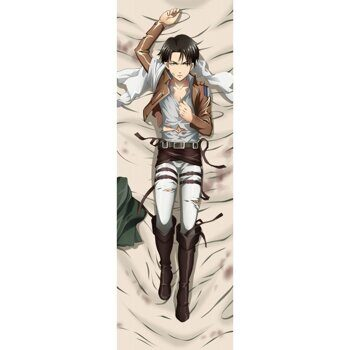 Наволочка дакимакура Леви Атака Титанов вариант 3 / Dakimakura Levi Attack on Titan, 150x50см