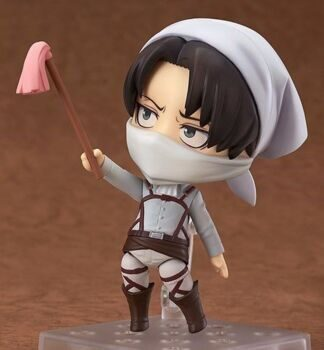 Фигурка нендороид Леви Атака Титанов серия 417 БУТЛЕГ / Figure Nendoroid Levi Attack on Titan, размер фигурки 10см
