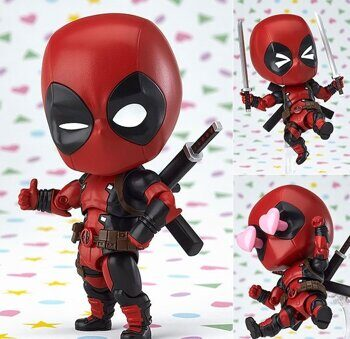 Фигурка нендороид Дэдпул Марвел Orechan серия 662 ОРИГИНАЛ / Figure nendoroid Deadpool Marvel, размер фигурки 10см
