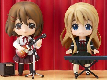 Фигурка нендроид Юи и Тсугуми K-On! серия 110 ОРИГИНАЛ / Figure Nendoroid Yui & Tsuhumi K-On!, размер фигурки 10см